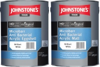Johnstones Anti Bacterial Acrylic Matt 5l bílá matná